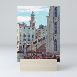 Venice - Rialto Bridge and Gondola Mini Art Print