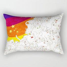 Cat Overflow Rectangular Pillow