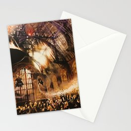 Fred and George Weasley Flying in Hogwarts Great Hall Stationery Cards