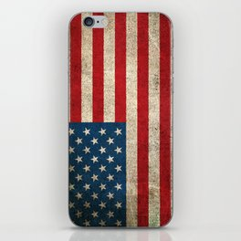 Old and Worn Distressed Vintage Flag of The United States iPhone Skin