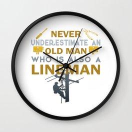 Old Man - A Lineman Wall Clock