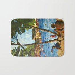 """Welcome to Streets Beach"" Bath Mat"