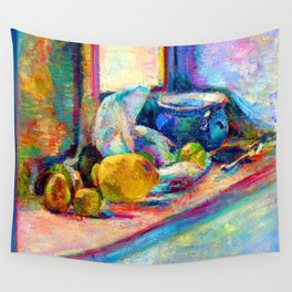 Henri Matisse Blue Pot and Lemon Wall Tapestry