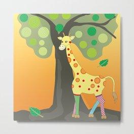 Giraffe & friends Metal Print