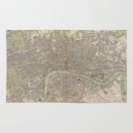 Vintage Map of London England (1843) Rug