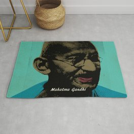 Mahatma Gandhi Pop Art Pictures Rug