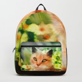 """Kitty in the sunlight field"" Backpack"