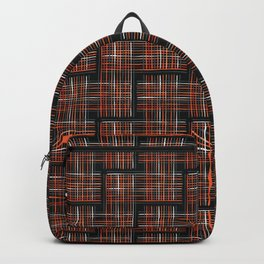 Abstract Criss Cross Weave Backpack