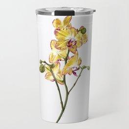 Yellow Phalaenopsis Orchid Traditional Artwork Travel Mug