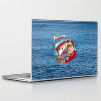 jaws Laptop & iPad Skins featuring Jaws  by Christopher Chouinard