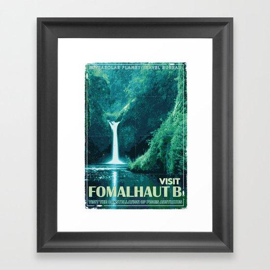 My Exoplanetary Travel Poster: Formalhaut B Framed Art Print