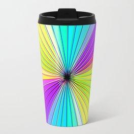 Color Burst III (Purple // Lime Green) Travel Mug