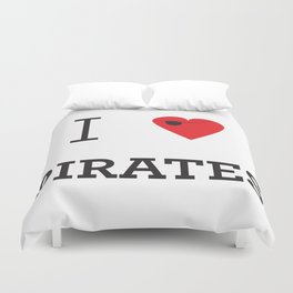 I heart Pirates Duvet Cover