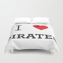 I heart Pirates Duvet Cover