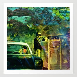 A Nightly Pull Over:The Casual Affair Art Print