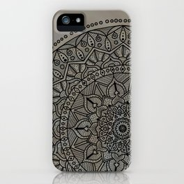 Circle of Life Mandala Brown and Blue iPhone Case