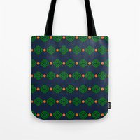 preppy Tote Bags featuring Preppy Logo by Lillian Burns