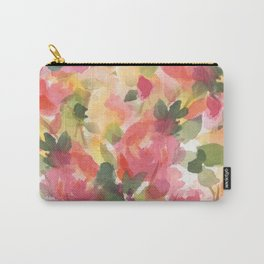Coral Roses Carry-All Pouch