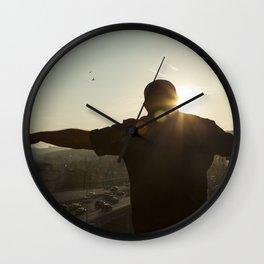 A hint of Color Wall Clock