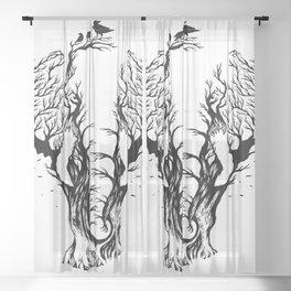 Negative Space Elephant Sheer Curtain