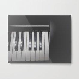 Electronic Keyboard Faded Metal Print
