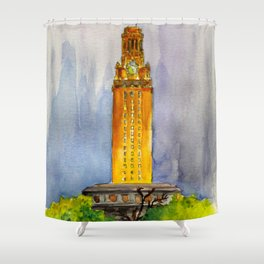 UT Tower - Shines to welcome new students to campus Shower Curtain