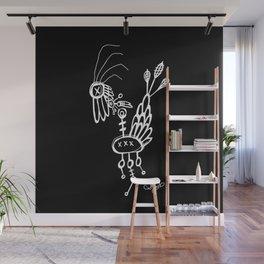 Dead Bird - White on Black Wall Mural