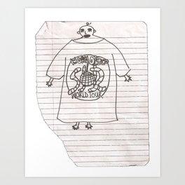 worm disco fan (artist interpretation)  Art Print