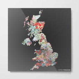 UK map #2 Metal Print