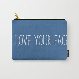 I Love Your Face - Slate Blue Carry-All Pouch