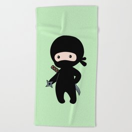 Tiny Ninja Beach Towel