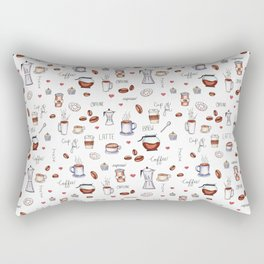 Coffee Pattern Rectangular Pillow