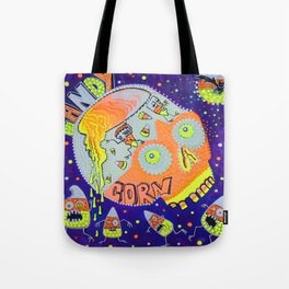 Haunted Candy Corn Tote Bag
