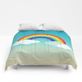 Rainbow in the sky , nursery decor , children gift, birthday gift Comforters