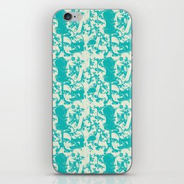 Sewing Toile in Teal iPhone Skin