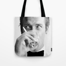 Roger Moore with Martini Retro Vintage Art Tote Bag