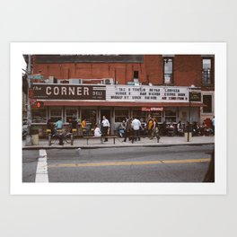The Corner Deli Art Print