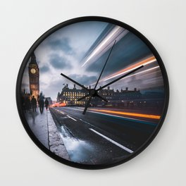 Rush hour in London Wall Clock