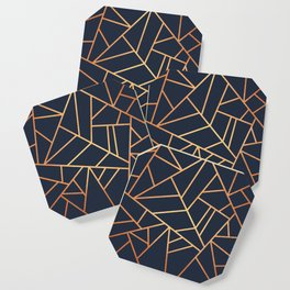 Copper and Midnight Navy Coaster