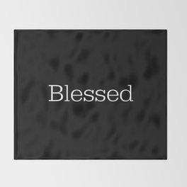 BLESSED Black & White Throw Blanket