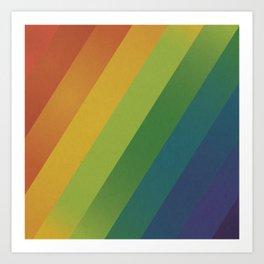 Rainbow Glow Art Print