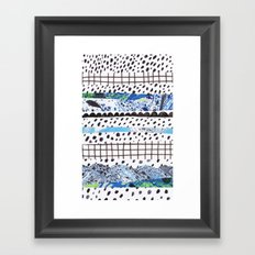 Abstract shapes Framed Art Print