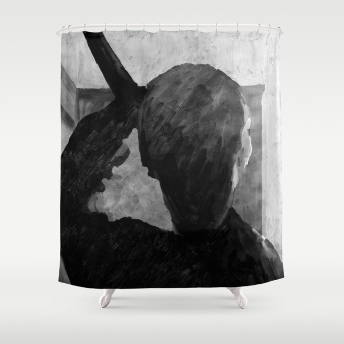 Psycho Shower Curtain By Ultrazen