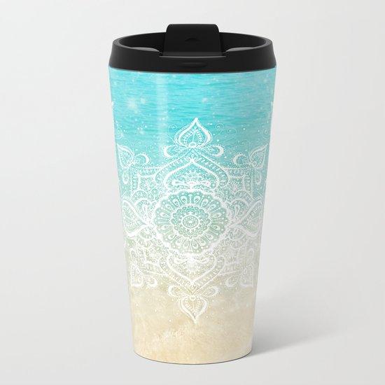 Beach Mandala Metal Travel Mug
