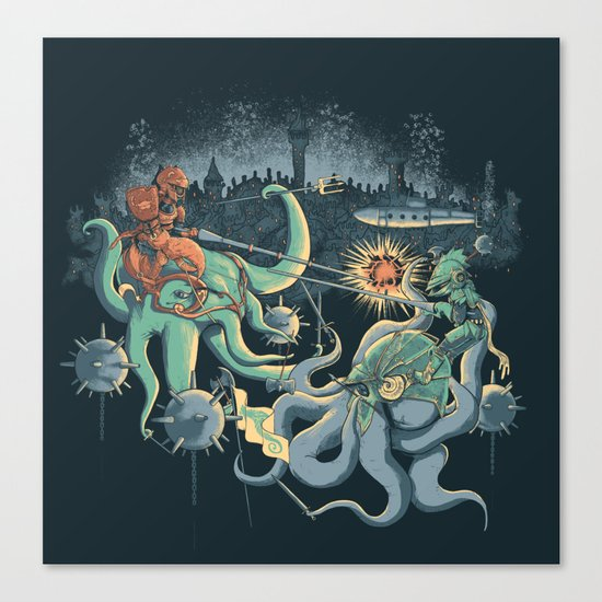 A Midnight Subaquatic Knights Tale Canvas Print
