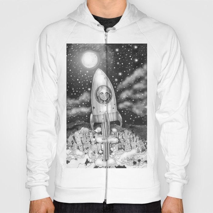 Running Away From Home In A Rocket Ship Hoody