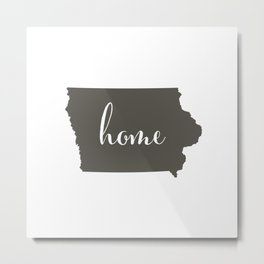Iowa is Home Metal Print