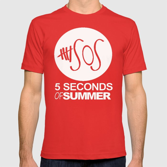 7c39a85fa45 WHITE SUMMER 5 SOS T SHIRT MAROON TOP RUM WOMENS MENS MUSIC ONE DIRECTION  WHITE T-shirt by arul85