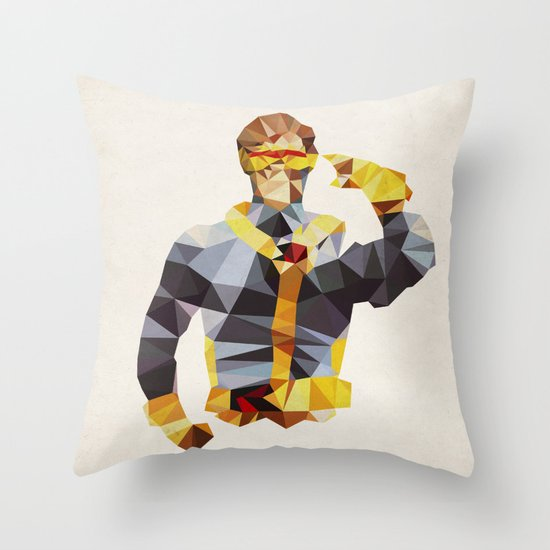 Polygon Heroes - Cyclops Throw Pillow