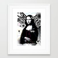 mona lisa Framed Art Prints featuring mona lisa by DESIGN